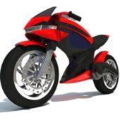 Futuristic Sci-fi Motorcycle Design