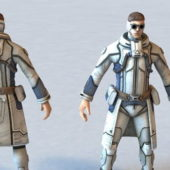 Futuristic Character Security Agent