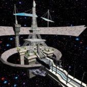 Futuristic Spaceship Station Concept