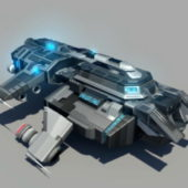 Futuristic Spaceship Starfighter