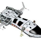 Futuristic Sci-fi Spaceship Concept