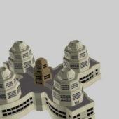 Futuristic City Housing Building Concept