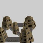 Futuristic Community Industrial Building