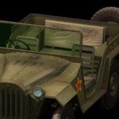 Military Gaz-67b Jeep Vehicle