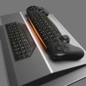 Hybrid Modern Gamepad Keyboard