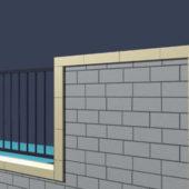 Garden Brick Fence