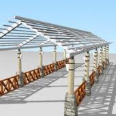 Garden Pergola Walkway Structure