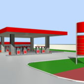 Big Gas Station Store
