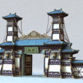Ancient Chinese Gate Of Temple