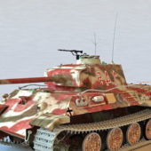 Military German Panzer V Tank