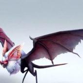 Giant Bat Monster Character