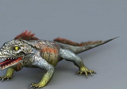 Giant Lizard Monster Animal