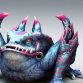 Giant Toad Monster Game Character