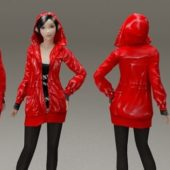 Girl With Red Coat Character