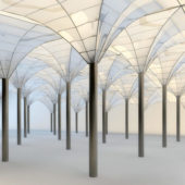 Glass Roof Structure System Building