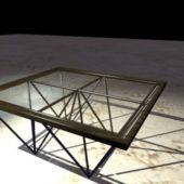 Glass Metal Coffee Table Furniture