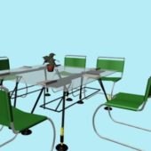 Office Glass Conference Furniture Set