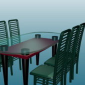 Glass Dining Table Furniture Sets