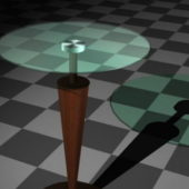 Furniture Glass Pedestal Coffee Table