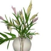 Indoor Glass Vase With Flowers