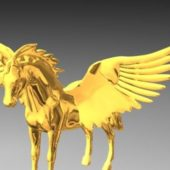Western Gold Pegasus Angel