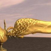 Golden Phoenix Animal Sculpture