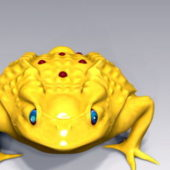 Gold Toad Animal Rigged