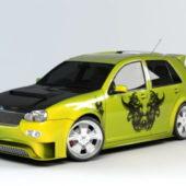 Vehicle Graffiti Sedan Car