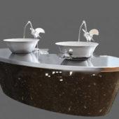 Furniture Granite Vanity With Vessel Sink