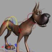Great Dane Dog Animal Rigged