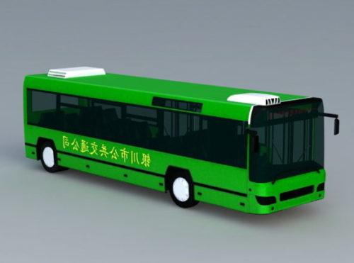 Green Bus Car