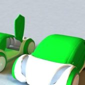 Lowpoly Green Car Concept