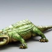 Nature Wild Green Crocodile