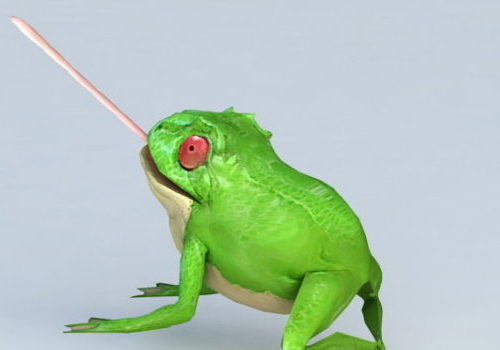 Realistic Wild Green Frog