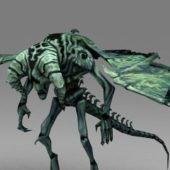 Green Gargoyle Game Character