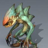 Green Troll Monster Game Character