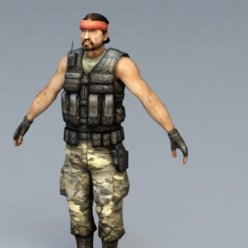 Guerilla Soldier Game Character