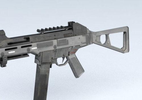 Gun Hk Mp5 Submachine Weapon