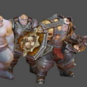 Half Orc Warrior Game Character