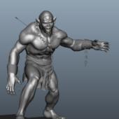 Half-orc Gaming Character