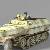 Military Half Track Light Tank