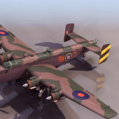 Military Halifax Heavy Bomber