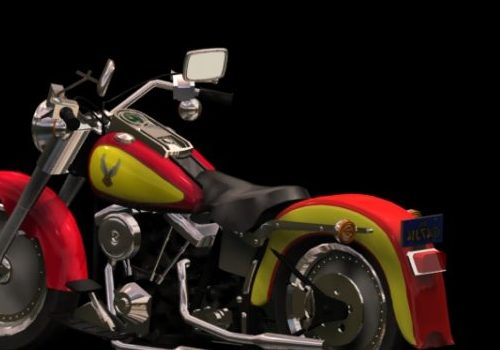 Motorcycle Harley-davidson Flstf Fat Boy