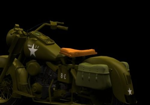 Motorcycle Harley-davidson Military Style