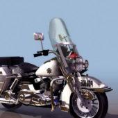 Harley Davidson Police Motorcycle Bike