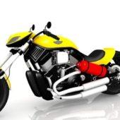 Vintage Harley Davidson Rocker Bike