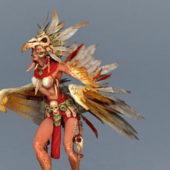 Game Character Harpy Hero