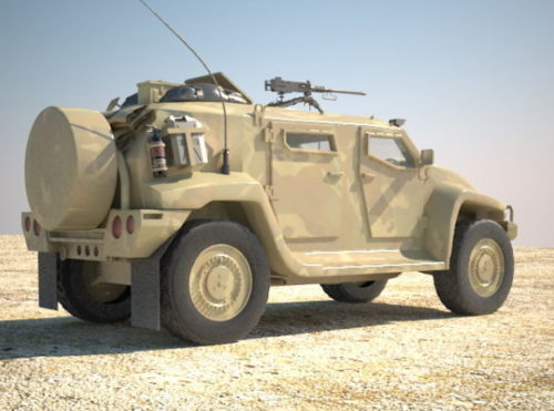 Military Hawkei Armoured Fighting Truck