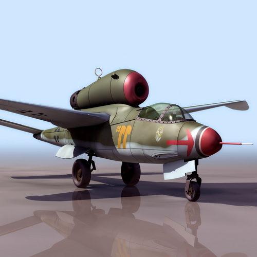 Military Heinkel He162 German Fighter Aircraft