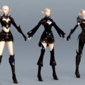 High Elf Female Characterwith Armor Set